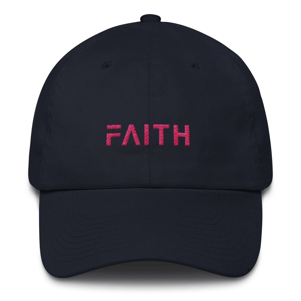 Faith Womens Adjustable Cotton Baseball Cap / Dad Hat - One size / Navy - Hats