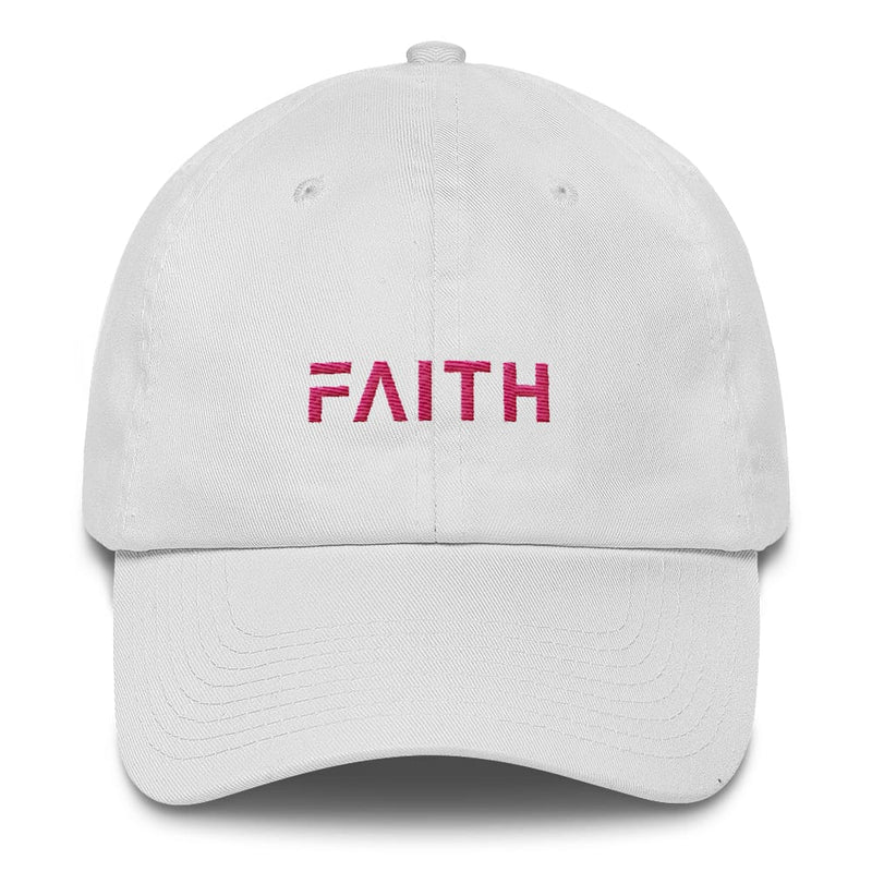 Faith Womens Adjustable Cotton Baseball Cap / Dad Hat - One size / White - Hats