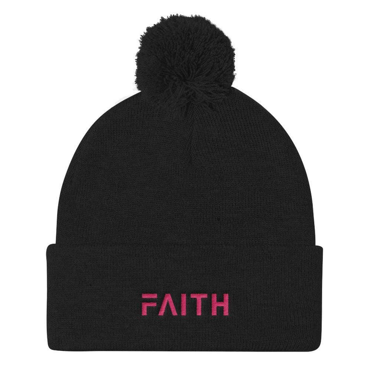 FAITH Women's Pom Pom Knit Beanie