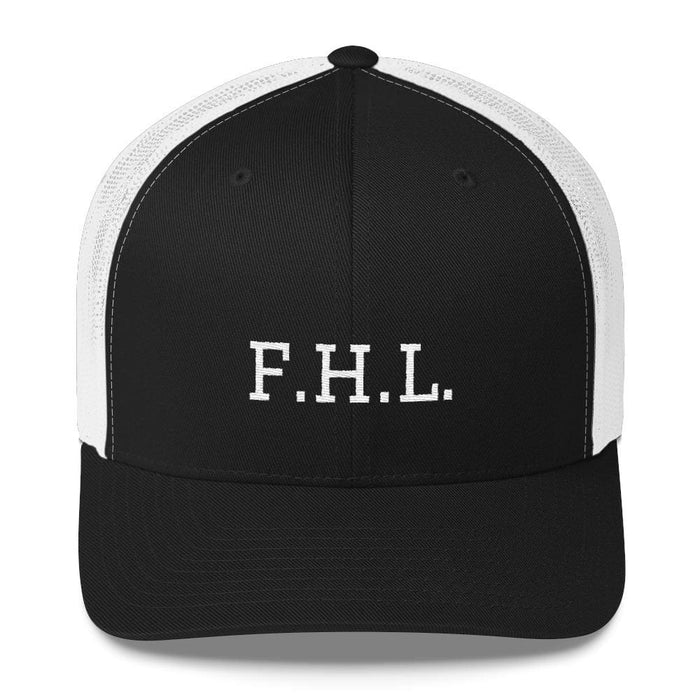 FHL (Faith Hope Love) Snapback Trucker Cap - One-size / Black/ White - Hats