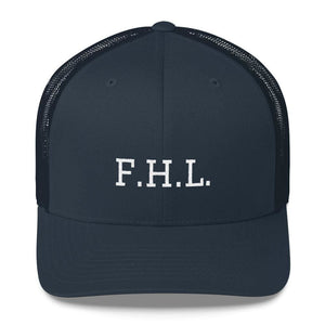 Load image into Gallery viewer, FHL (Faith Hope Love) Snapback Trucker Cap - One-size / Navy - Hats