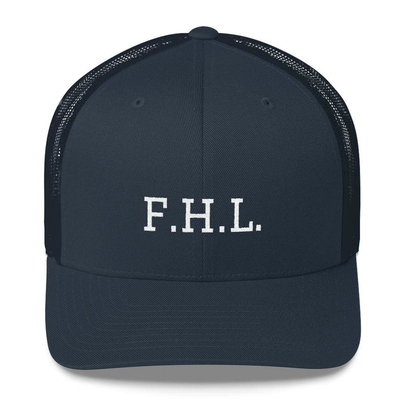 FHL (Faith Hope Love) Snapback Trucker Cap - One-size / Navy - Hats