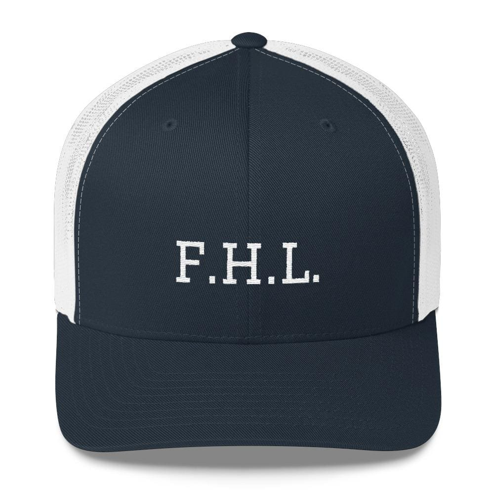 Load image into Gallery viewer, FHL (Faith Hope Love) Snapback Trucker Cap - One-size / Navy/ White - Hats