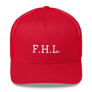 FHL (Faith Hope Love) Snapback Trucker Cap - One-size / Red - Hats