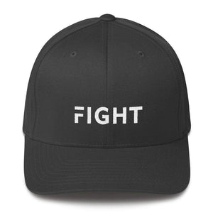 Fight Fitted Flexfit Twill Baseball Hat - S/m / Dark Grey - Hats