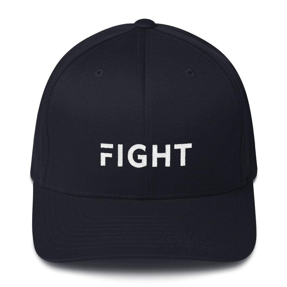 Fight Fitted Flexfit Twill Baseball Hat - S/m / Dark Navy - Hats