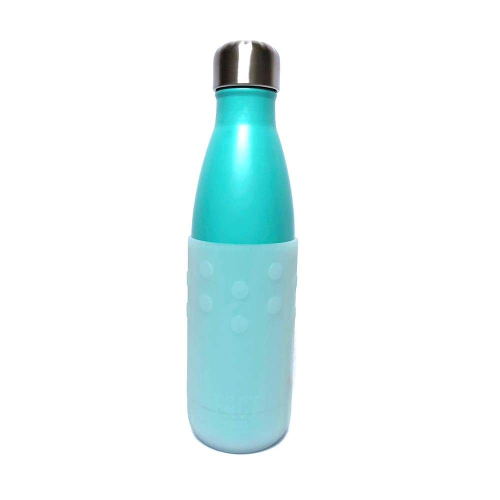 Frosted White GiveGrip Silicone Sleeve for 17oz Swell Water Bottles and 18-24oz Hydro Flask - Water Bottle Sleeve