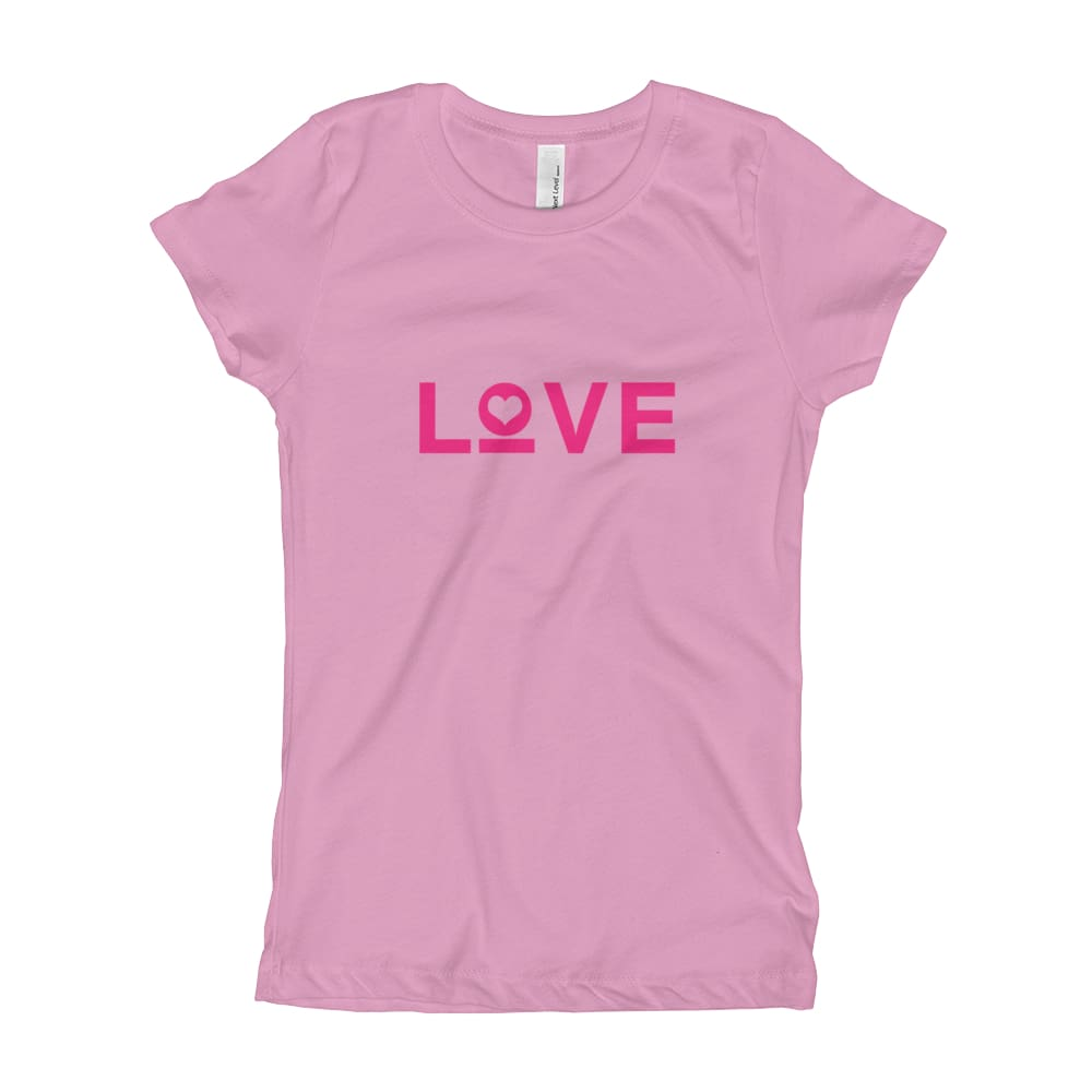 Girls Love Heart T-Shirt - XS / Lilac - T-Shirts