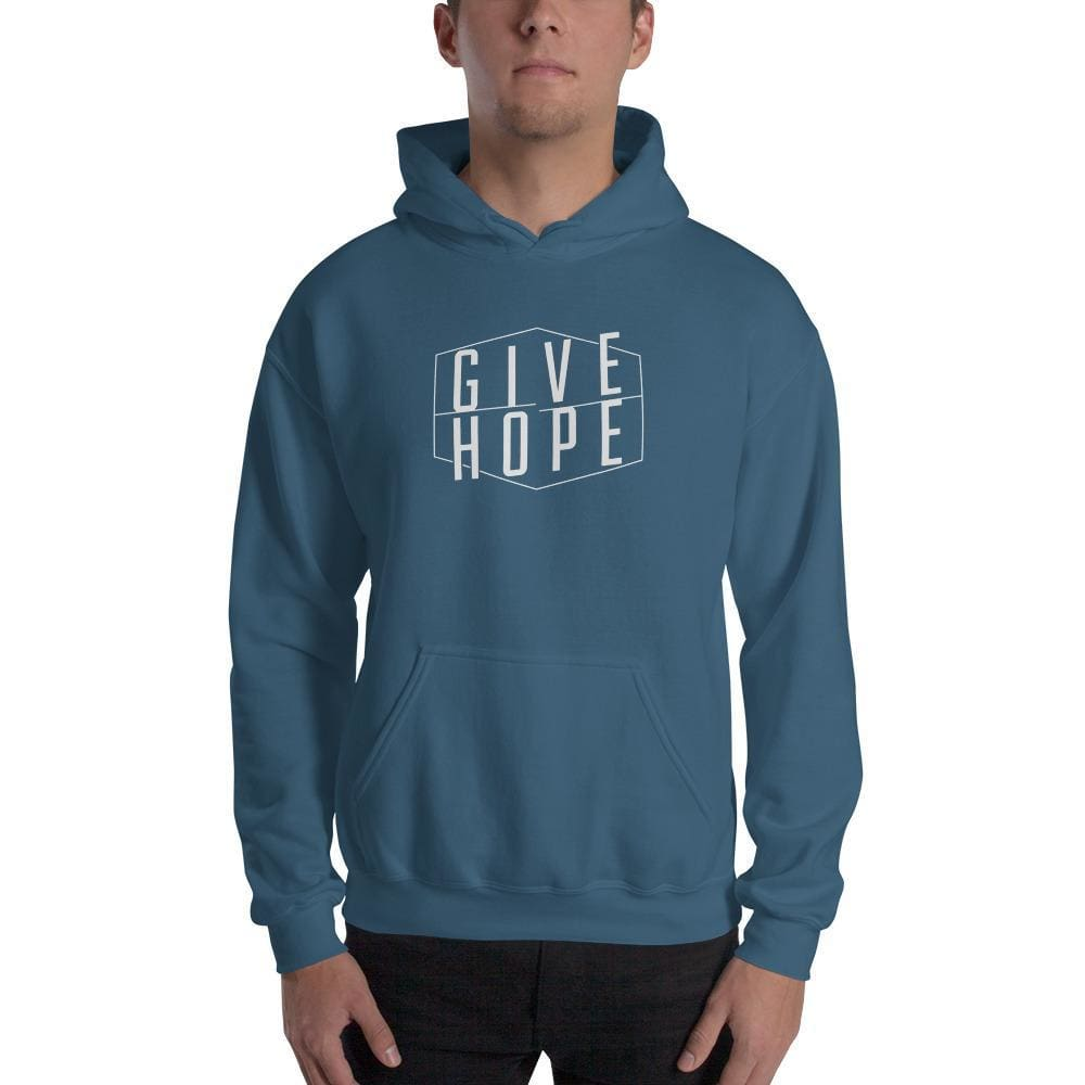 Give Hope Hoodie Sweatshirt - S / Indigo Blue - Sweatshirts