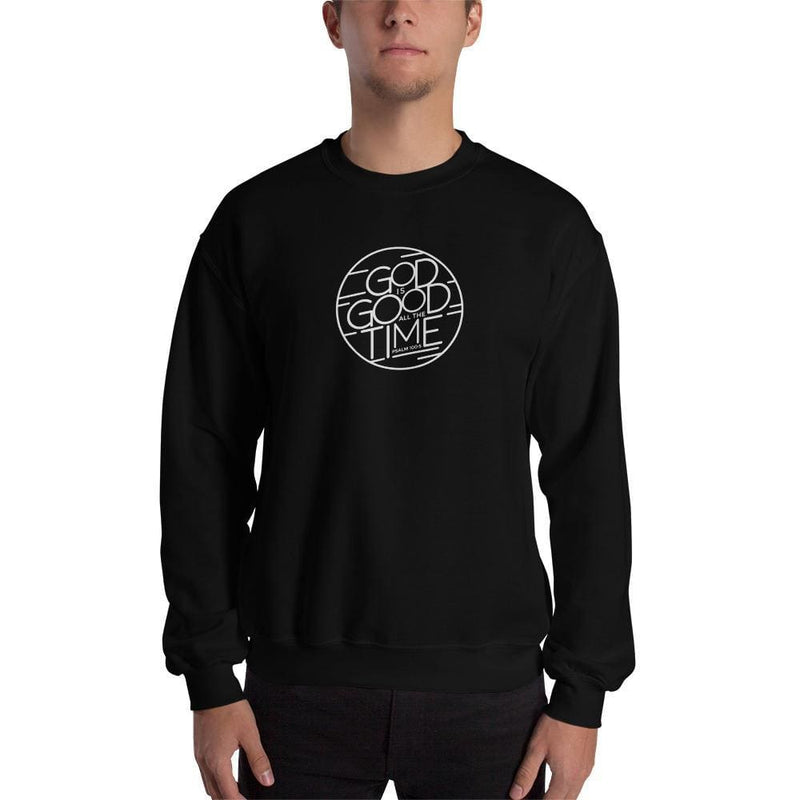 God is Good All the Time Christian Crewneck Sweatshirt - S / Black - Sweatshirts