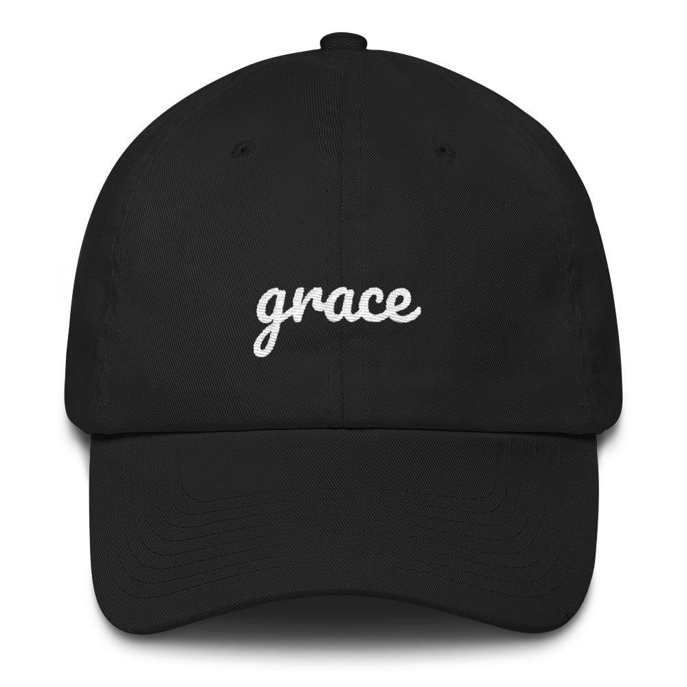 Load image into Gallery viewer, Grace Scribble Christian Adjustable Cotton Baseball Cap - One-size / Black - Hats