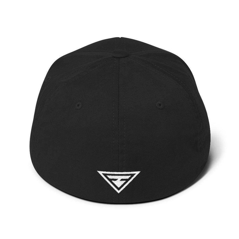 Hero Flexfit Fitted Twill Baseball Hat With Logo On The Back - S/m / Black - Hats