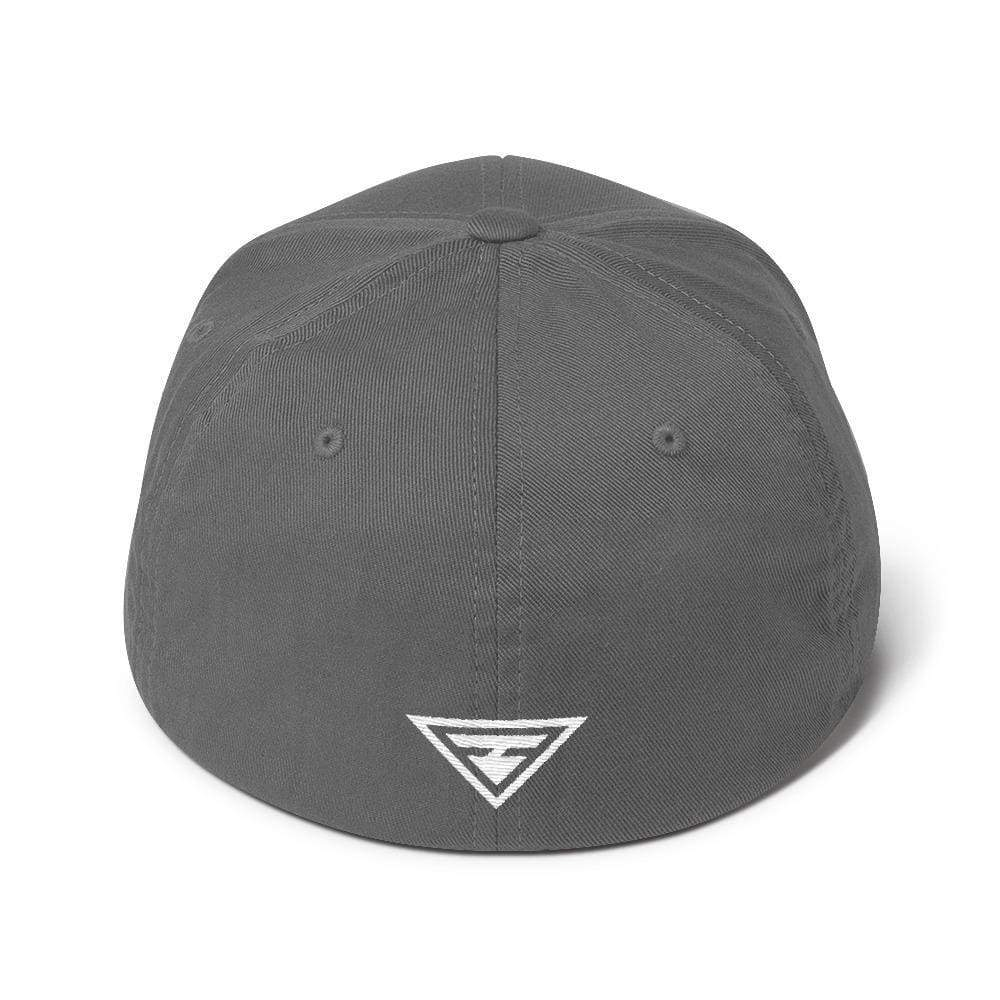 Hero Flexfit Fitted Twill Baseball Hat With Logo On The Back - S/m / Grey - Hats