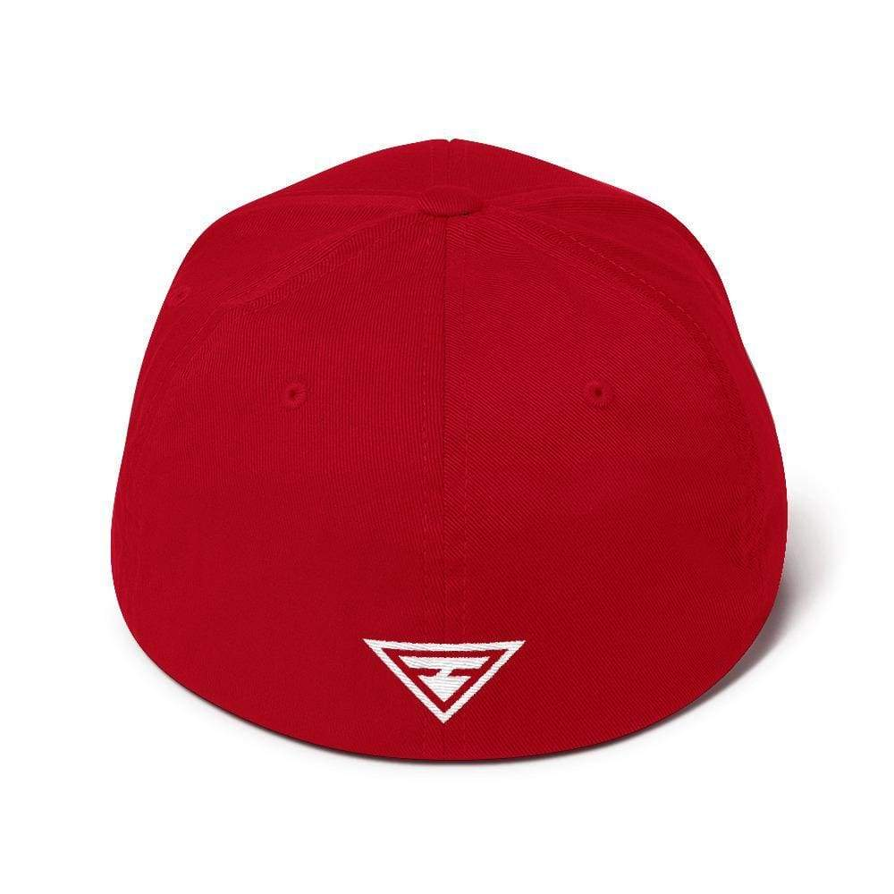 Hero Flexfit Fitted Twill Baseball Hat With Logo On The Back - S/m / Red - Hats