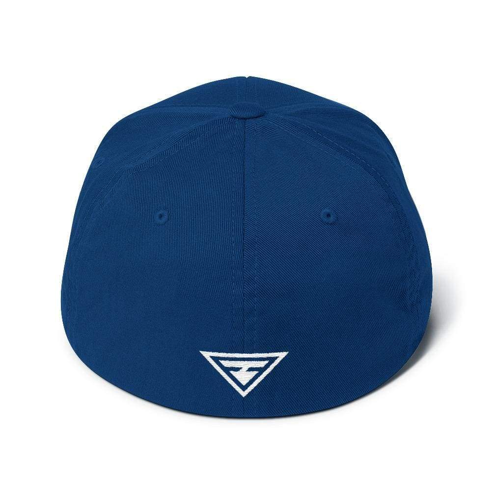 Hero Flexfit Fitted Twill Baseball Hat With Logo On The Back - S/m / Royal Blue - Hats