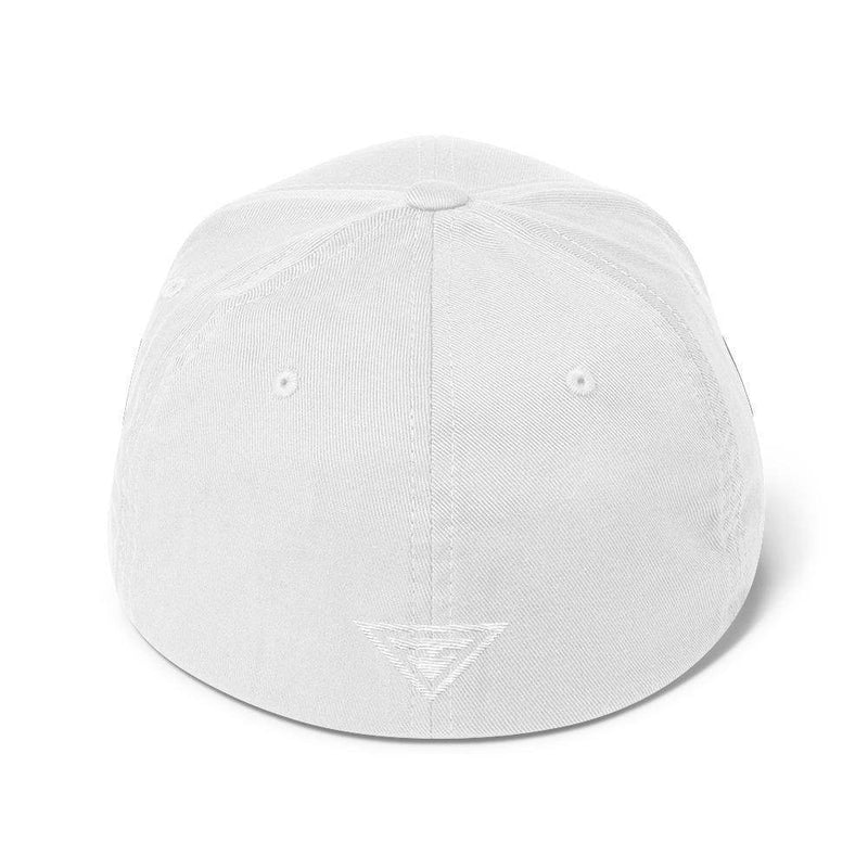 Hero Flexfit Fitted Twill Baseball Hat With Logo On The Back - S/m / White - Hats