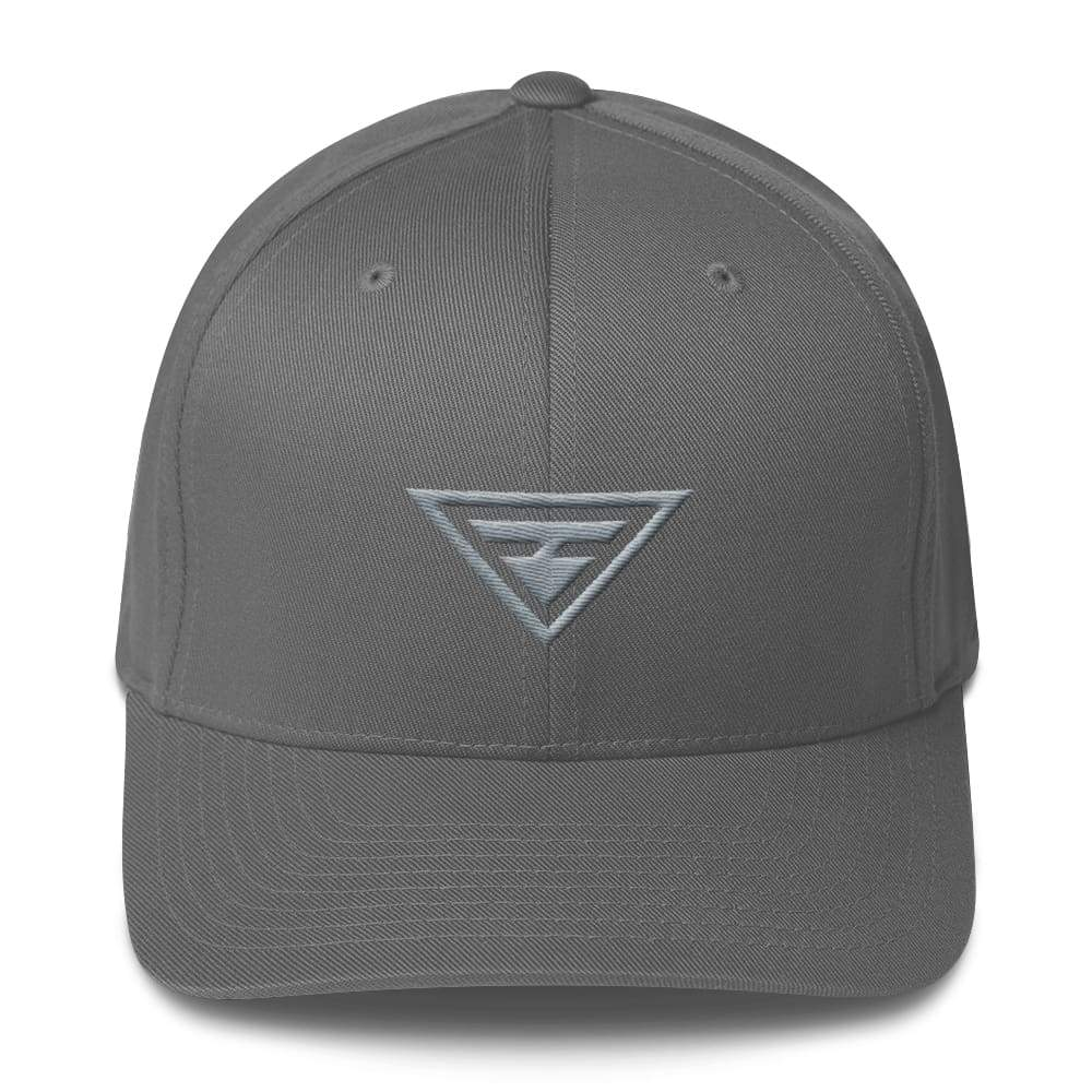 Hero Grey on Grey Fitted Flexfit Twill Baseball Hat