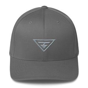 Load image into Gallery viewer, Hero Grey On Grey Fitted Flexfit Twill Baseball Hat - S/m / Grey - Hats
