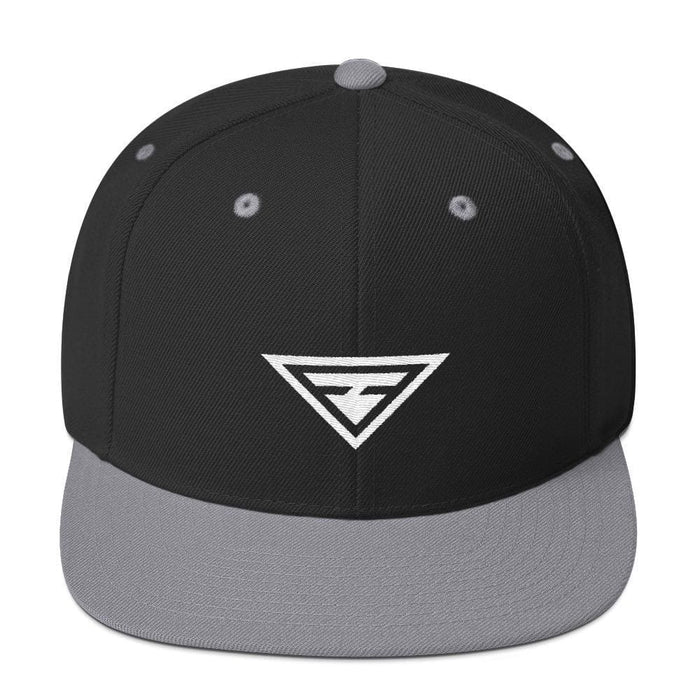 Hero Snapback Hat with Flat Brim - One-size / Black & Silver - Hats