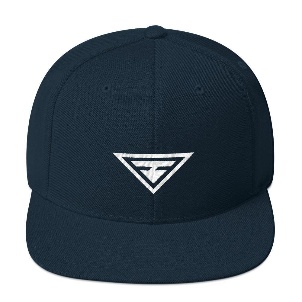 Hero Snapback Hat with Flat Brim - One-size / Dark Navy - Hats
