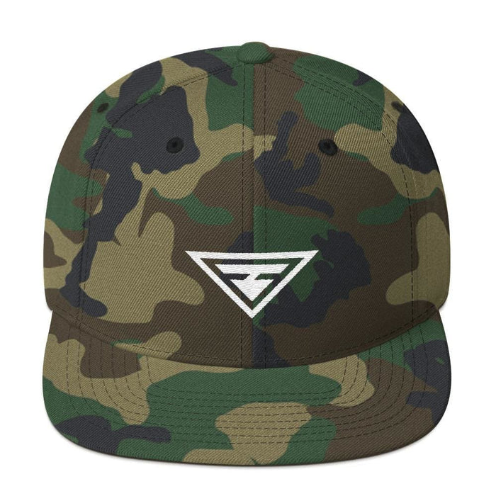 Hero Snapback Hat with Flat Brim - One-size / Green Camo - Hats