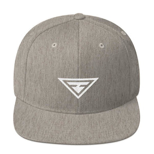 Hero Snapback Hat with Flat Brim - One-size / Heather Grey - Hats