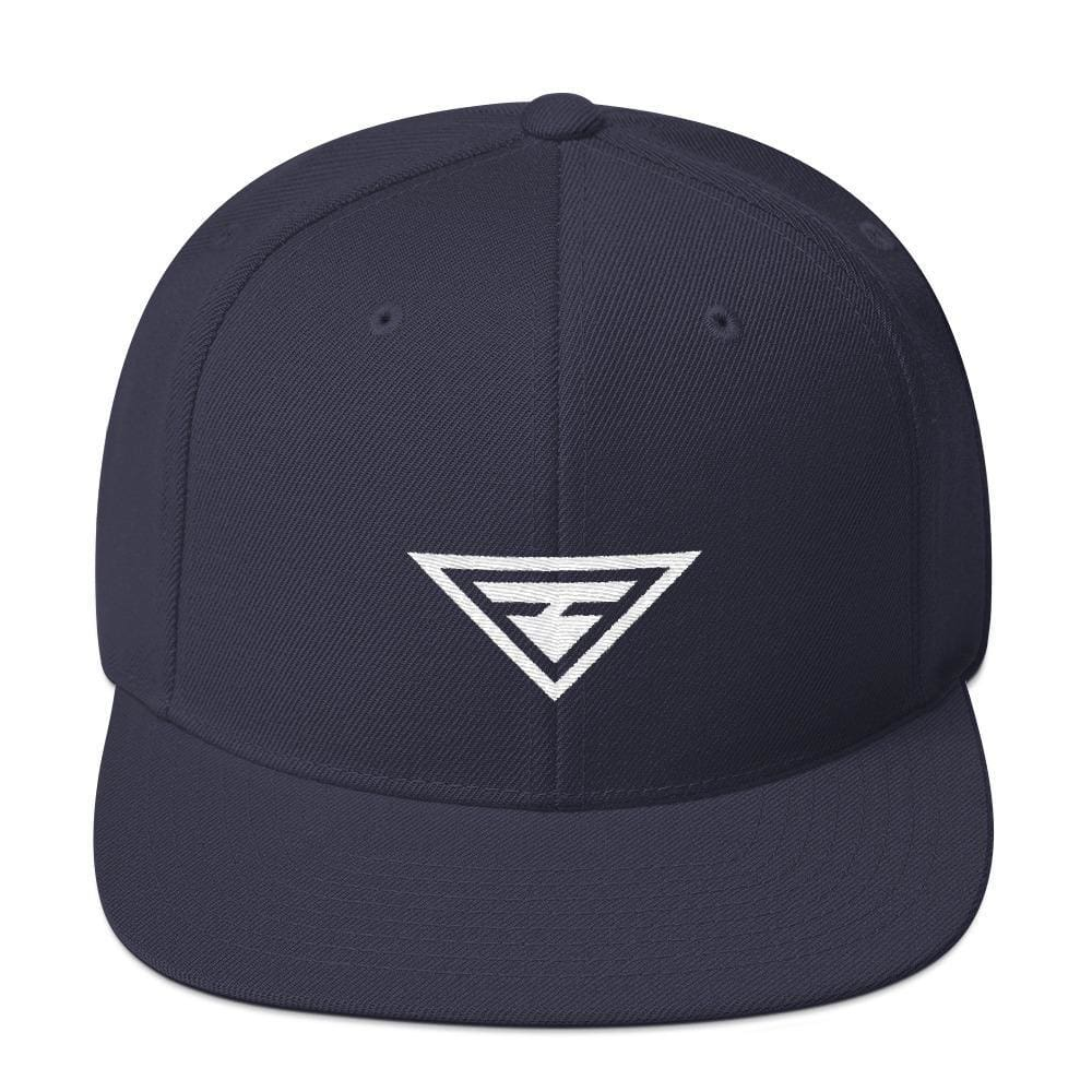 Hero Snapback Hat with Flat Brim - One-size / Navy - Hats