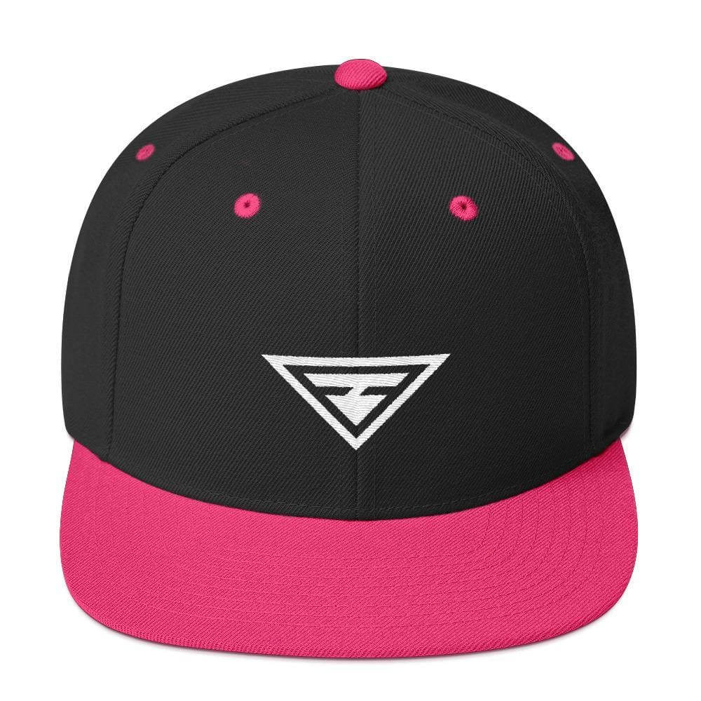 Hero Snapback Hat with Flat Brim - One-size / Neon Pink - Hats