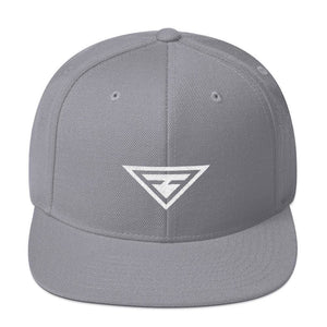 Hero Snapback Hat with Flat Brim - One-size / Silver - Hats