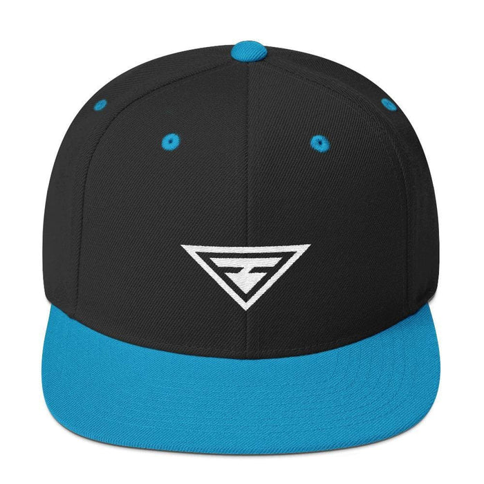 Hero Snapback Hat with Flat Brim - One-size / Teal - Hats