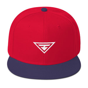Load image into Gallery viewer, Hero Wool-Blend Flat Brim Snapback Hat - Hats