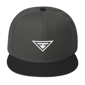 Load image into Gallery viewer, Hero Wool-Blend Flat Brim Snapback Hat - One-size / Black / Charcoal gray / Charcoal gray - Hats
