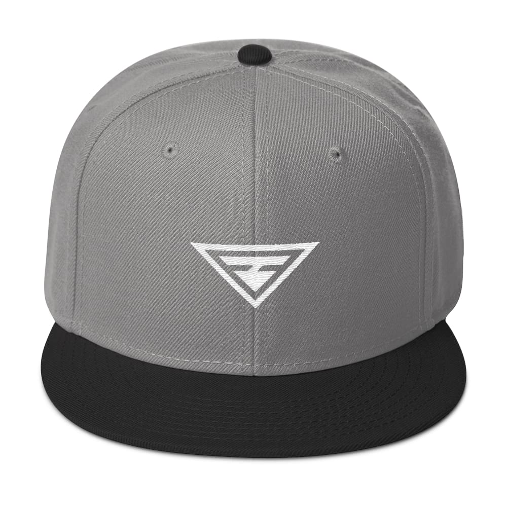 Hero Wool-Blend Flat Brim Snapback Hat - One-size / Black / Gray / Gray - Hats