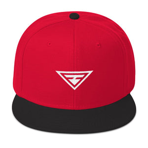 Load image into Gallery viewer, Hero Wool-Blend Flat Brim Snapback Hat - One-size / Black / Red / Red - Hats