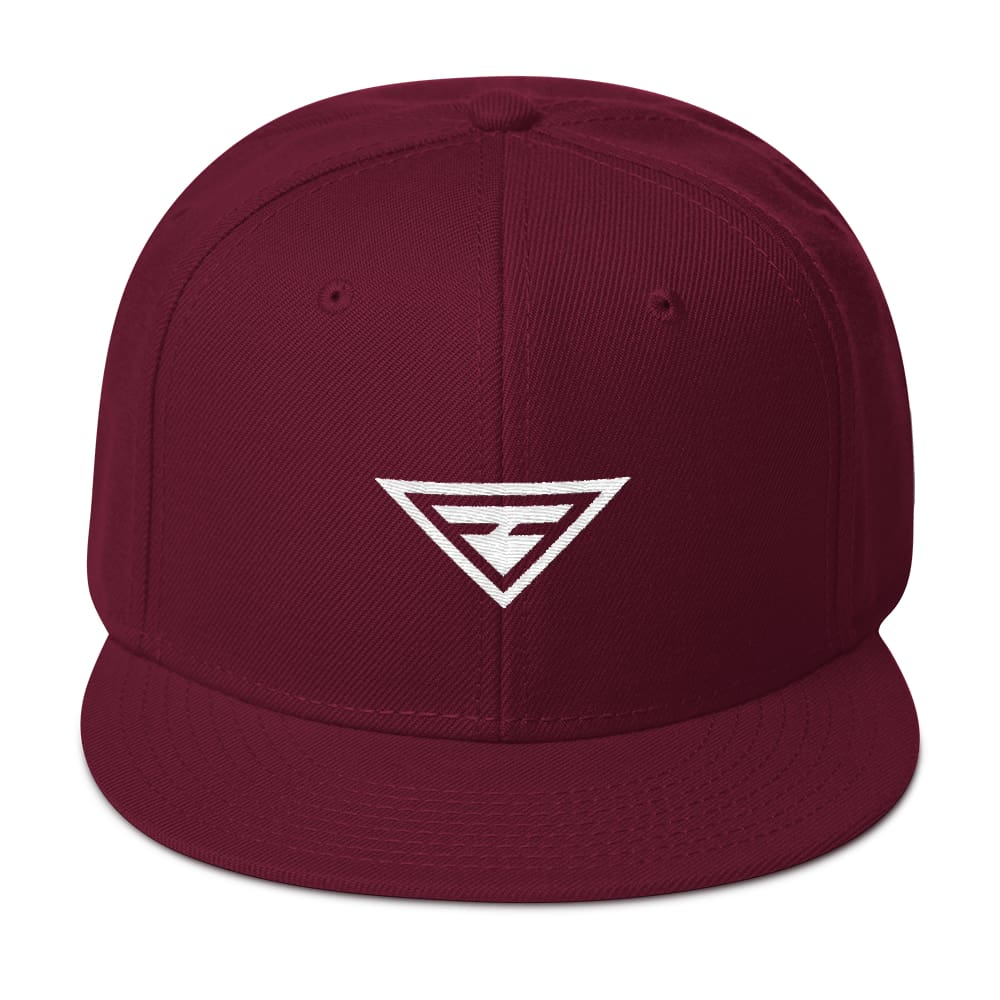 Load image into Gallery viewer, Hero Wool-Blend Flat Brim Snapback Hat - One-size / Burgundy maroon - Hats