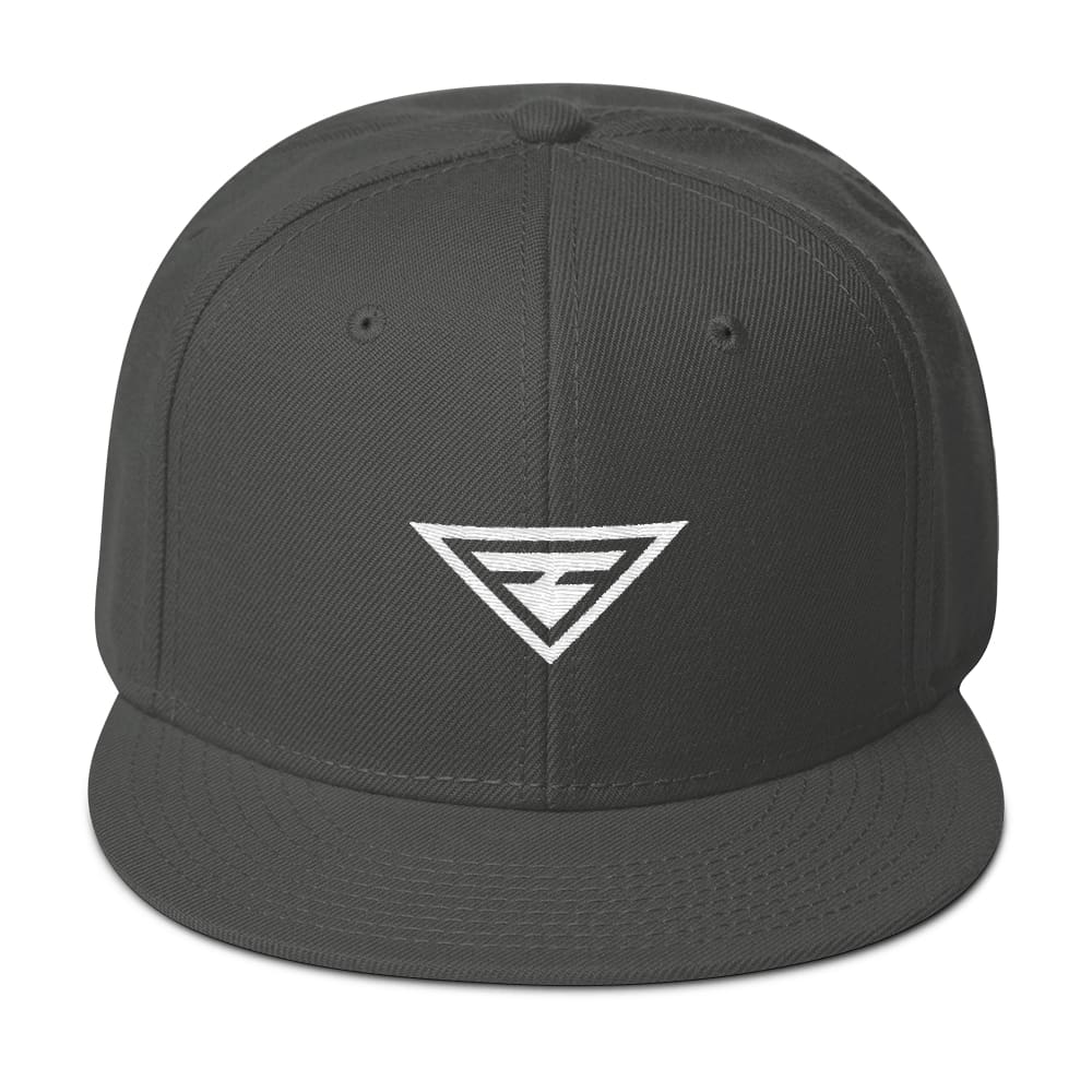 Load image into Gallery viewer, Hero Wool-Blend Flat Brim Snapback Hat - One-size / Charcoal gray - Hats