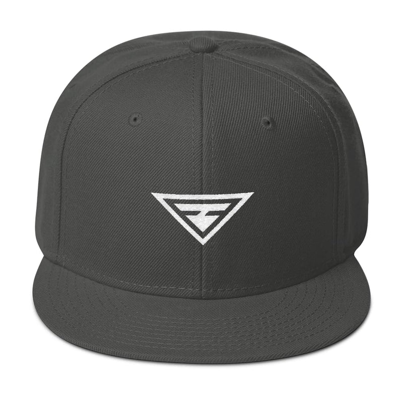 Hero Wool-Blend Flat Brim Snapback Hat - One-size / Charcoal gray - Hats
