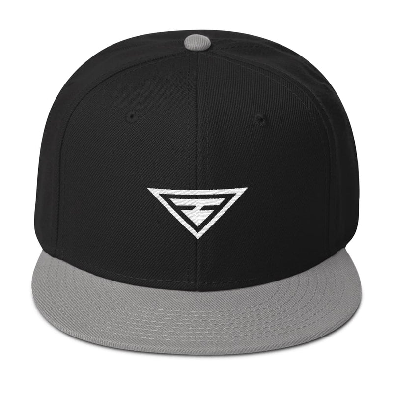 Hero Wool-Blend Flat Brim Snapback Hat - One-size / Gray / Black / Black - Hats