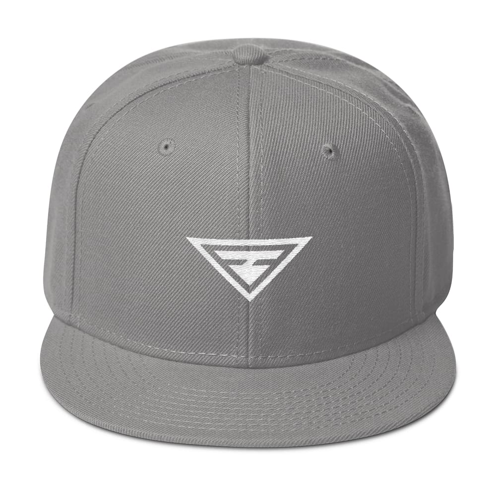 Hero Wool-Blend Flat Brim Snapback Hat - One-size / Gray - Hats