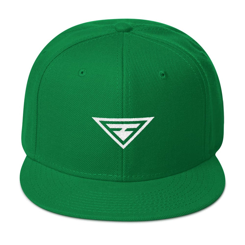 Hero Wool-Blend Flat Brim Snapback Hat - One-size / Kelly green - Hats