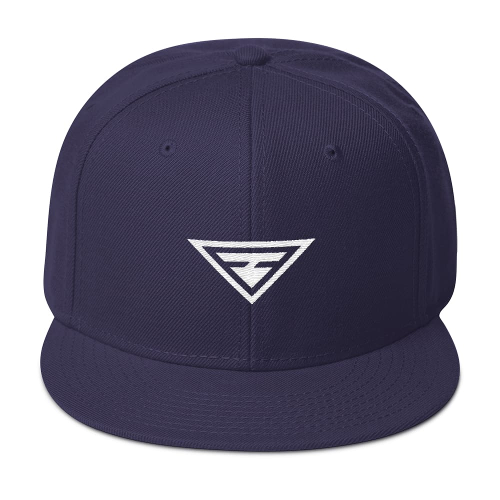 Load image into Gallery viewer, Hero Wool-Blend Flat Brim Snapback Hat - One-size / Navy blue - Hats