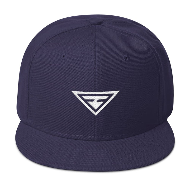 Hero Wool-Blend Flat Brim Snapback Hat - One-size / Navy blue - Hats