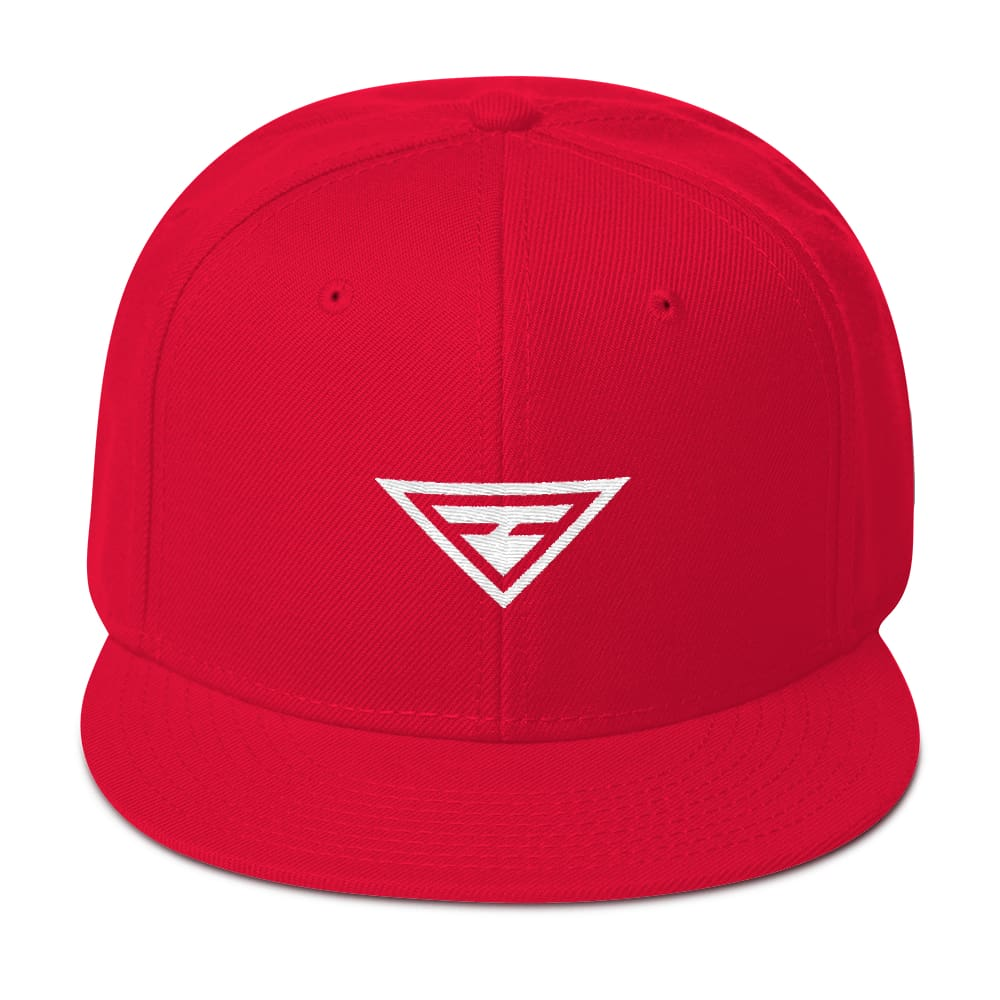 Hero Wool-Blend Flat Brim Snapback Hat - One-size / Red - Hats
