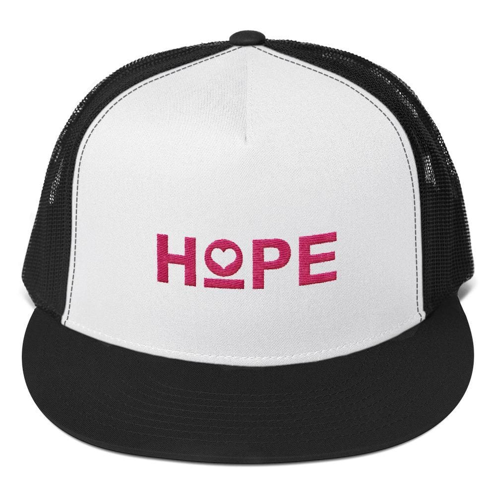 Hope Heart 5-Panel Snapback Trucker Hat - One-size / Black - Hats
