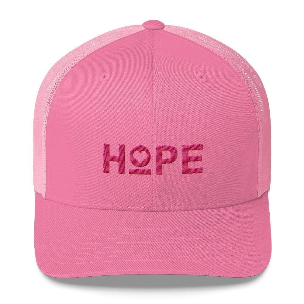 Hope Snapback Trucker Hat - One-Size / Pink - Hats