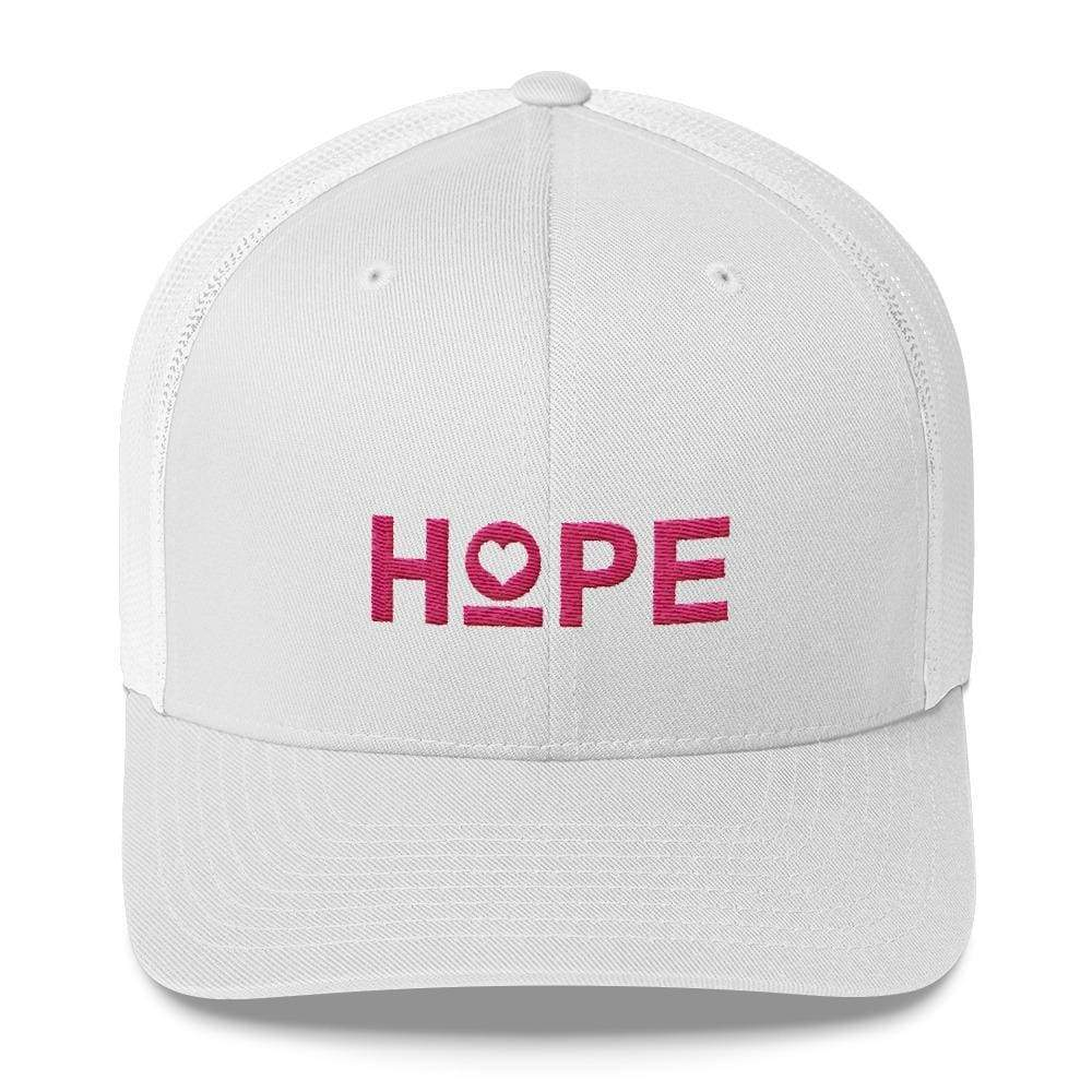 Hope Snapback Trucker Hat - One-Size / White - Hats