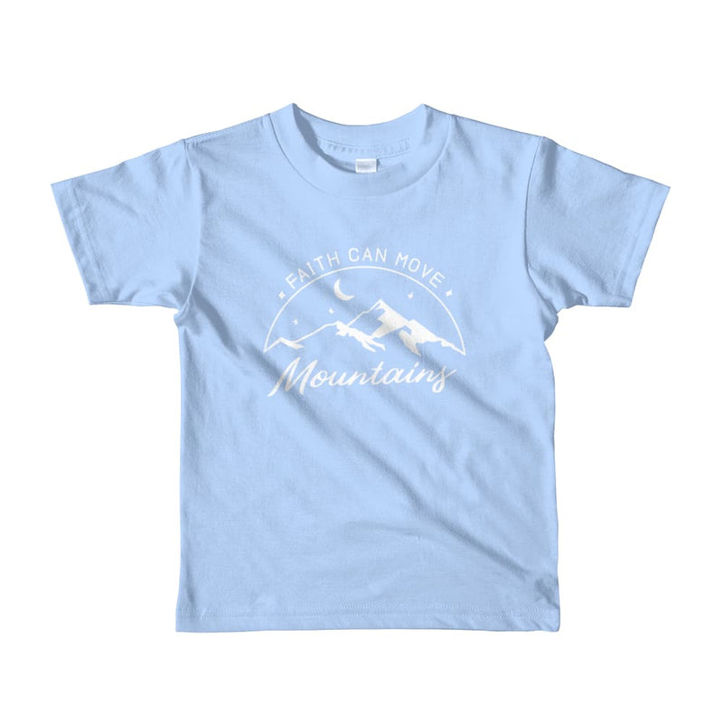 Kids Faith Can Move Mountains Christian T-Shirt - 2yrs / Baby Blue - T-Shirts