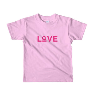 Kids Love Heart T-Shirt - 2yrs / Pink - T-Shirts