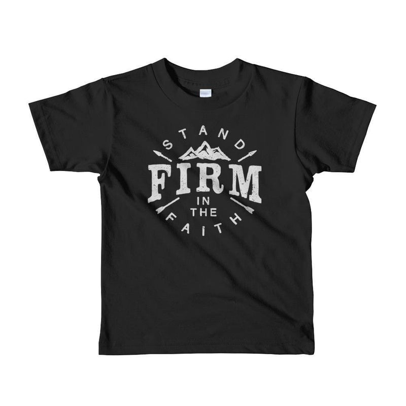 Kids Stand Firm in the Faith Christian T-Shirt - 2yrs / Black - T-Shirts