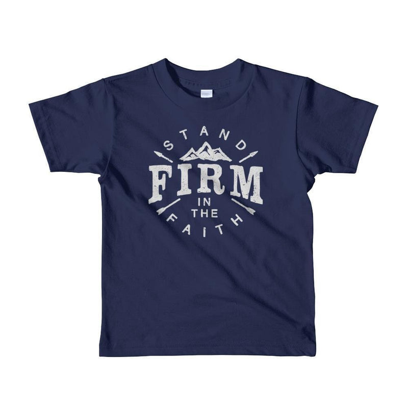 Kids Stand Firm in the Faith Christian T-Shirt - 2yrs / Navy - T-Shirts